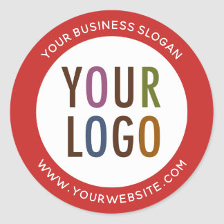 Round Promotional Business Stickers Company Logo