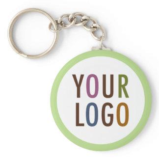 Round Promotional Keychain Company Logo No Minimum