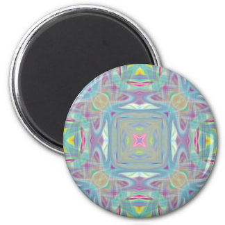 Round psychedelic magnet