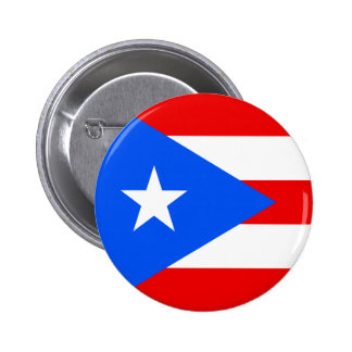 Round Puerto Rico Flag Buttons
