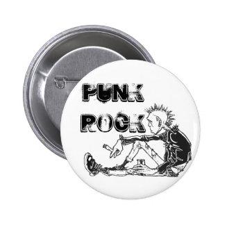 Round Punk Rock Genre Pin