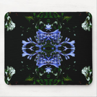 Round purple flowers 1 mouse mat