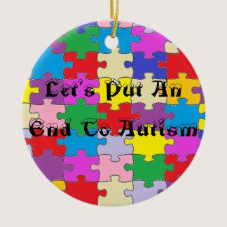 Round Puzzle Piece Ornament