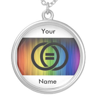 Round Rainbow equality Pendant
