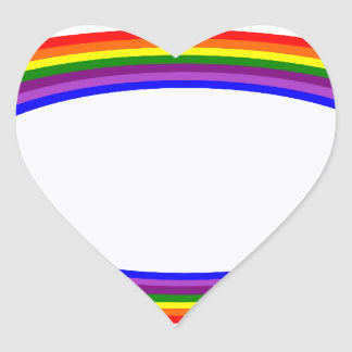 Round Rainbow Heart Sticker