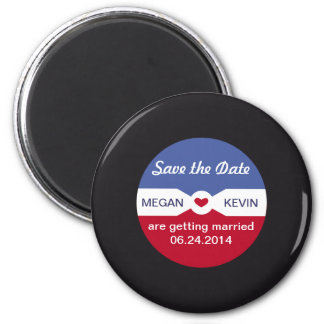 Round Record  Save the Date Magnet - music theme