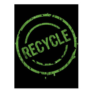 ROUND RECYCLE STAMP POSTCARD