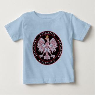 Round Red Polish Eagle Baby T-Shirt