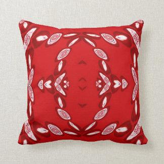 Round Red Ribbon Roses American MoJo Pillow