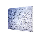 Round regular droplets of condensation canvas print