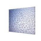 Round regular droplets of condensation canvas print