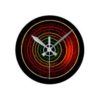 Round Retro Neon Clock