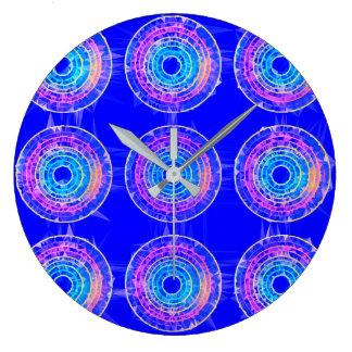Round Retro Neon Pattern Design Wall Clock