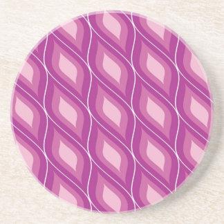 Round Retro Rhombuses Coasters