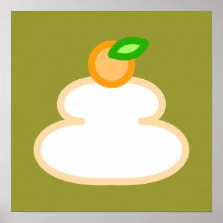 Round rice-cake (kagami mochi) poster