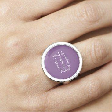 Wedding Themed round ring