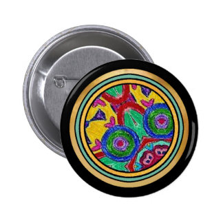 Round ringer button in red blue green yellow