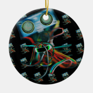 Round Robot Inspired Ornament