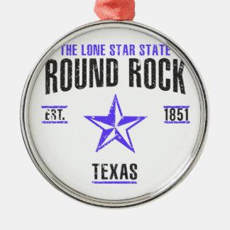 Round Rock Metal Ornament
