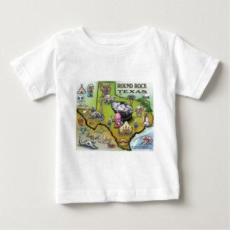 Round Rock Texas Cartoon Map Baby T-Shirt