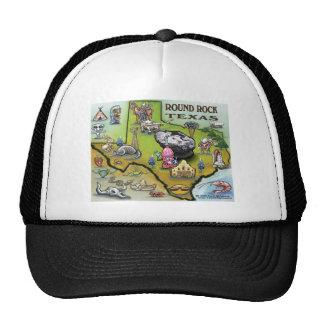 Round Rock Texas Cartoon Map Trucker Hat