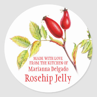 Round Rosehip Jelly baking gift stickers