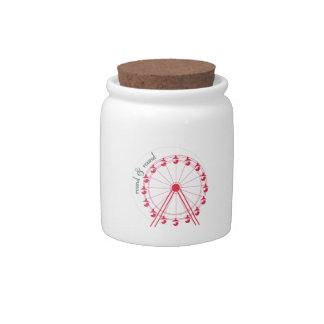 Round & Round Candy Jars
