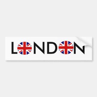 Round, Round, LONDON Car Bumper Sticker