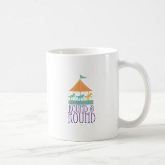 Round & Round Classic White Coffee Mug