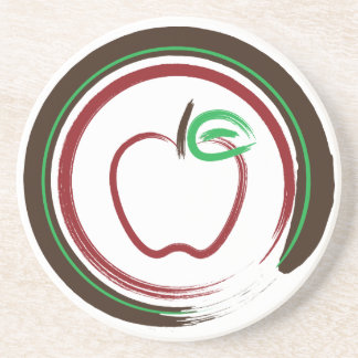 Round Rustic Red Apple Coaster
