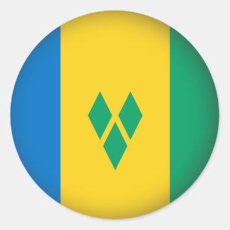 Round Saint Vincent and the Grenadines Round Sticker