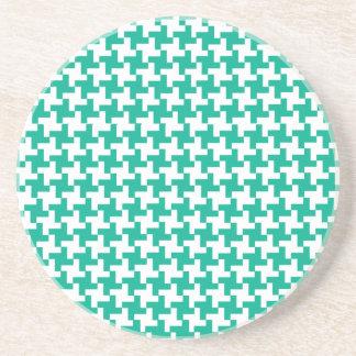 Round Sandstone Coaster, Emerald Green Dogtooth Sandstone Coaster