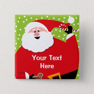 Round Santa Custom Button