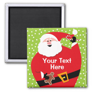 Round Santa Custom Magnet