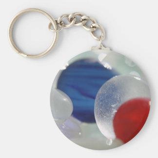 Round Sea Glass Basic Round Button Keychain