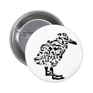Round Seagull Chick Badge Pinback Button