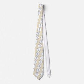 Round Seahorse Design Beachy Neck Tie
