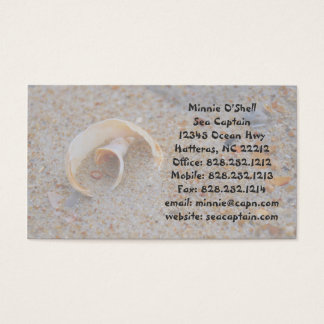 Round Seashell Business Card