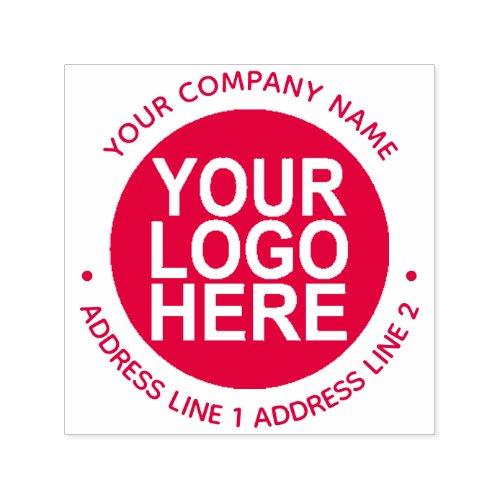 Round Self_Inking Return Address Stamp with Logo