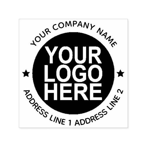 Round Self_Inking Return Logo Stamp With Address