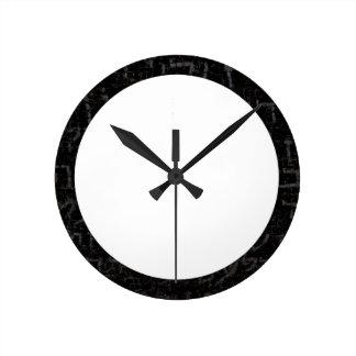 Round shape hebrew text clock