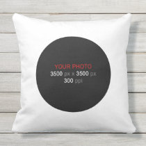 Round Shape Personal Creations 20 Inch Outdoor Pillow