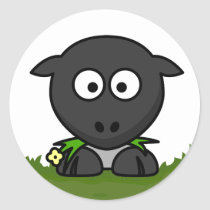 Round Sheep Classic Round Sticker