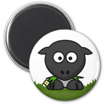 Round Sheep Magnet