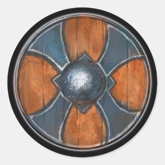Round Shield - Blue Cross Emblem Classic Round Sticker