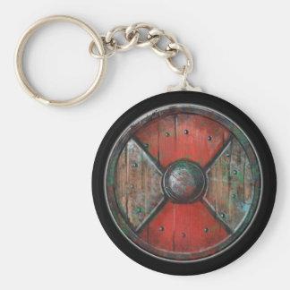 Round Shield Button - Red Warpaint Emblem Basic Round Button Keychain