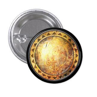 Round Shield - Golden Sun Emblem Pinback Button