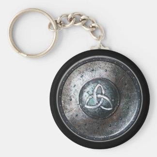 Round Shield Keychain - Triquetra Emblem