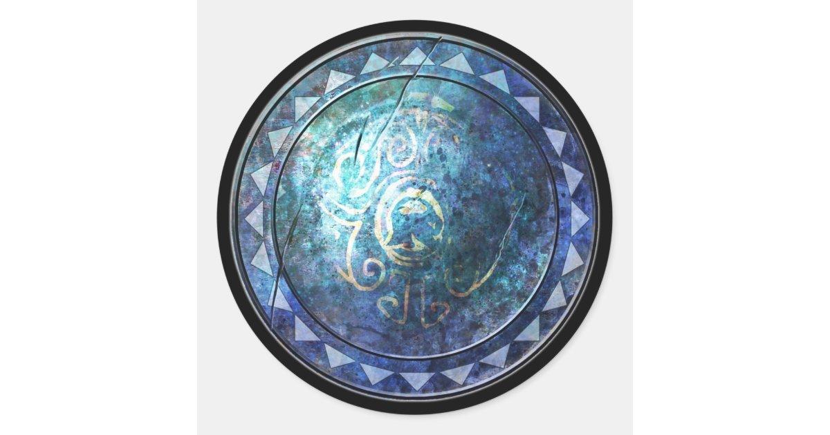 round shield sticker