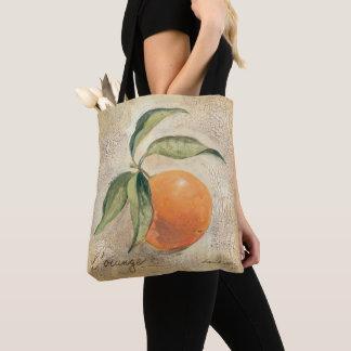 Round Shiny Orange Fruit Tote Bag